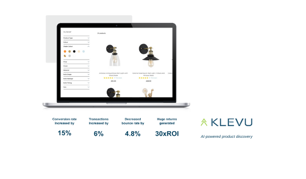 B2B and B2C retail group increased conversion by 15% in just 30-days with Klevu